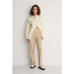 Recyclé Pantalon Jambe Large Et Taille Haute - Beige - NA-KD Classic - Modalova