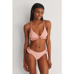 Recyclée Bas De Bikini À Volants - Pink - Marije Zuurveld x NA-KD - Modalova
