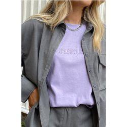 Biologique T-shirt Oversize En Coton Épais - Purple - Marije Zuurveld x NA-KD - Modalova