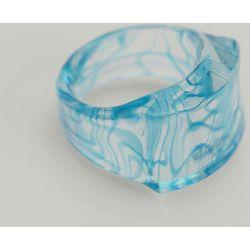 Bague bleue en verre - Blue - NA-KD Accessories - Modalova