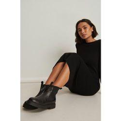 Bottes Chelsea en cuir basiques - Black - NA-KD Shoes - Modalova