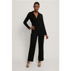 Combinaison Pantalon Droite À Ceinture - Black - NA-KD Trend - Modalova