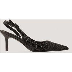 Escarpins Pointus À Brides Arrière À Paillettes - Black - NA-KD Shoes - Modalova