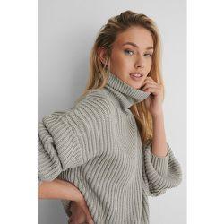 Biologique Sweater Tricoté Manches Ballon - Grey - NA-KD Reborn - Modalova
