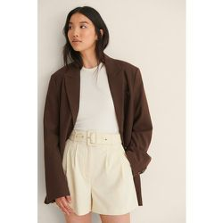 Short Taille Haute Avec Ceinture - Beige - NA-KD Classic - Modalova