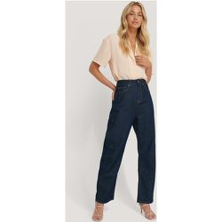 High Waist Oversized Jeans - Blue - NA-KD Trend - Modalova