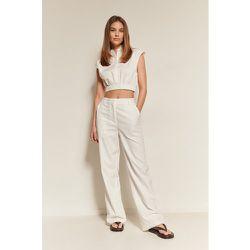 Pantalon De Costume Coupe Ample - White - NA-KD Classic - Modalova