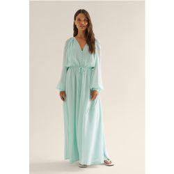 Robe Maxi Transparente - Blue - NA-KD Boho - Modalova