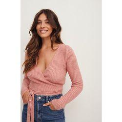 Haut cache-cœur en tricot côtelé - Pink - Nina Houston x NA-KD - Modalova