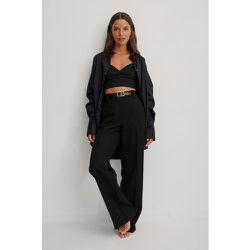 Recyclée chemise surdimensionnée à poches - Black - NA-KD Trend - Modalova
