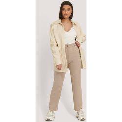 Pantalon Fines Rayures - Beige - NA-KD Classic - Modalova