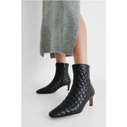 Bottes Matelassées À Bout Carré Allongé - Black - NA-KD Shoes - Modalova