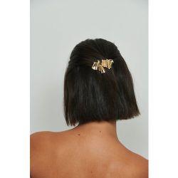 Pince À Cheveux Plate Effet Froissé - Gold - NA-KD Accessories - Modalova