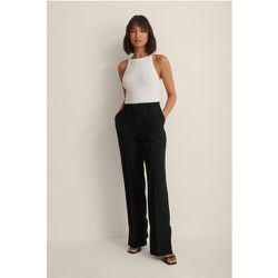 Pantalon Ajusté À Fente Latérale - Black - NA-KD Classic - Modalova
