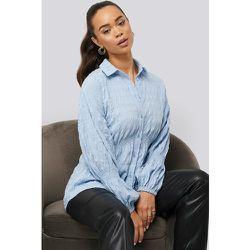 Structured Collar Blouse - Blue - NA-KD Boho - Modalova