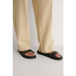NA-KD Shoes Pantoufles Cuir - Black - NA-KD Shoes - Modalova