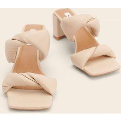 Mules À Bout Carré Torsadé - Beige - NA-KD Shoes - Modalova