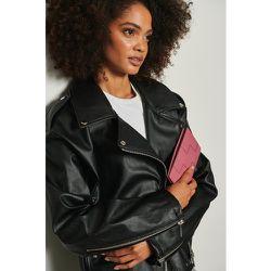 Portefeuille en cuir tressé - Pink - NA-KD Accessories - Modalova