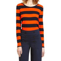 T-shirt Tee Shirt ML 112175921 Orange/Bleu - Petit Bateau - Modalova
