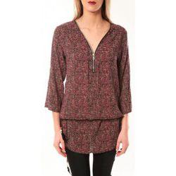 T-shirt Robe Noémie Co E1485-37 Rose/Noir - De Fil En Aiguille - Modalova