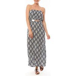Robe Robe Longue 9597 Bleu imprimée fleurs - Dress Code - Modalova