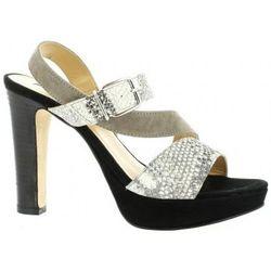Chaussures escarpins Nu pieds cuir velours python - Donna Più - Modalova