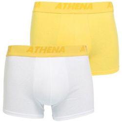Boxers Lot de 2 Boxers Coton FLUOMIX Jaune Blanc - Athena - Modalova