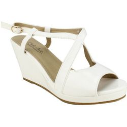 Sandales  Compensees Blanc Chaussures Femme