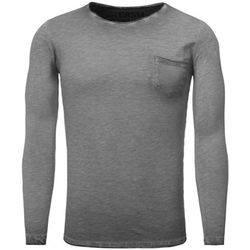 T-shirt T shirt manche longue mode T-shirt 3174 gris fonce - Carisma - Modalova