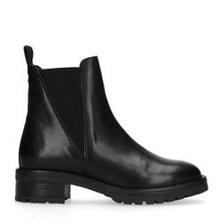 Chelsea boots en cuir - noir - Sacha - Modalova