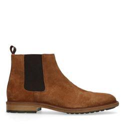 Chelsea boots en daim - camel - Sacha - Modalova