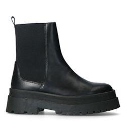 Chelsea boots courtes en cuir - Sacha - Modalova