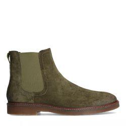 Chelsea boots en daim - vert - Sacha - Modalova