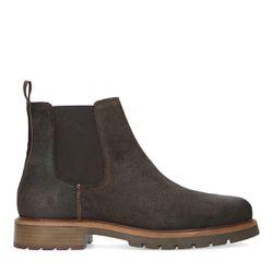 Chelsea boots en daim - marron - Sacha - Modalova