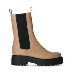 Chelsea boots en cuir - marron - Sacha - Modalova