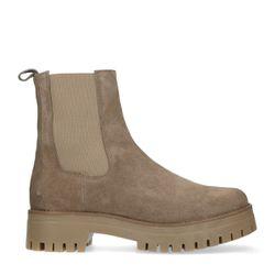Chelsea boots en daim - taupe - Sacha - Modalova