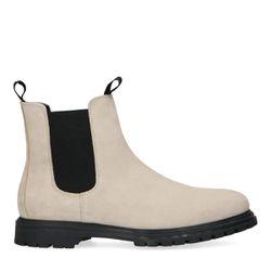 Chelsea boots en daim - blanc cassé - Sacha - Modalova