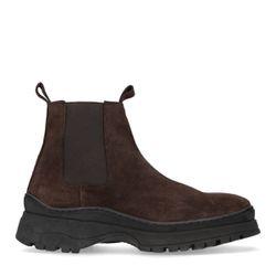 Chelsea boots en daim - marron foncé - Sacha - Modalova