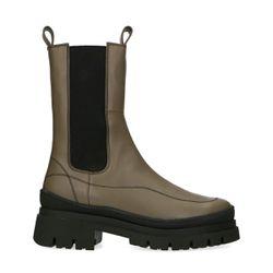 Chelsea boots en cuir - kaki - Sacha - Modalova