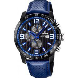 Montre Festina Originals F20339-4 - Montre Chronographe Cuir Bleu Festina Montres - F20339/4 - Modalova