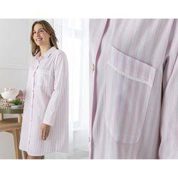 Chemise de nuit rayée - HOMEWEAR-rose - Becquet - Modalova