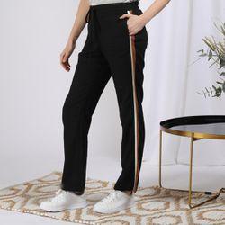 Promo : Pantalon en lin avec bandes appliquées - 3S. x Le Vestiaire - Modalova