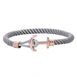 Bracelet Paul Hewitt PH-PHL-N-R-GR - Bracelet Ancre Simple IP Rose / Nylon Gris - PH-PHL-N-R-GR-M - Modalova