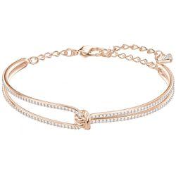 Bracelet Swarovski Lifelong Bangle - Bracelet Acier Or Rose - 5390818-M - Modalova