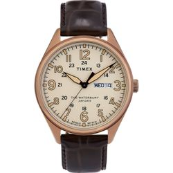 Montre Timex - cuir marron - TW2R89200 - Modalova