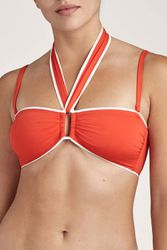 Haut de maillot de bain bandeau coque bretelles amovibles La Baie des Vagues Sanguine - Dessus Dessous_Affiliate - Modalova