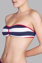 Haut de maillot de bain bandeau rembourré Meireles Marine - Dessus Dessous_Affiliate - Modalova