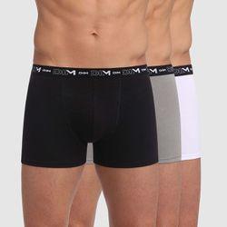 Lot de 3 boxers noir, et blanc en coton stretch - DIM - Modalova