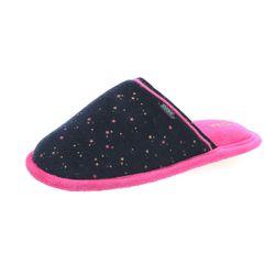 Chaussons type pantoufles bleu et rose en velours Fille - DIM - Modalova