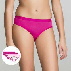 Lot de 3 culottes rose imprimé Les Pockets Girl - DIM - Modalova